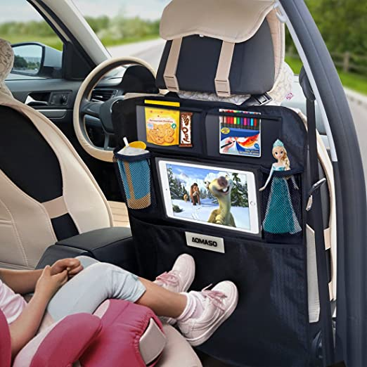 24 opinioni per Aomaso Kick Mats 2-Pack with Multi-pocket Organizer, Seat Back Covers for Car,