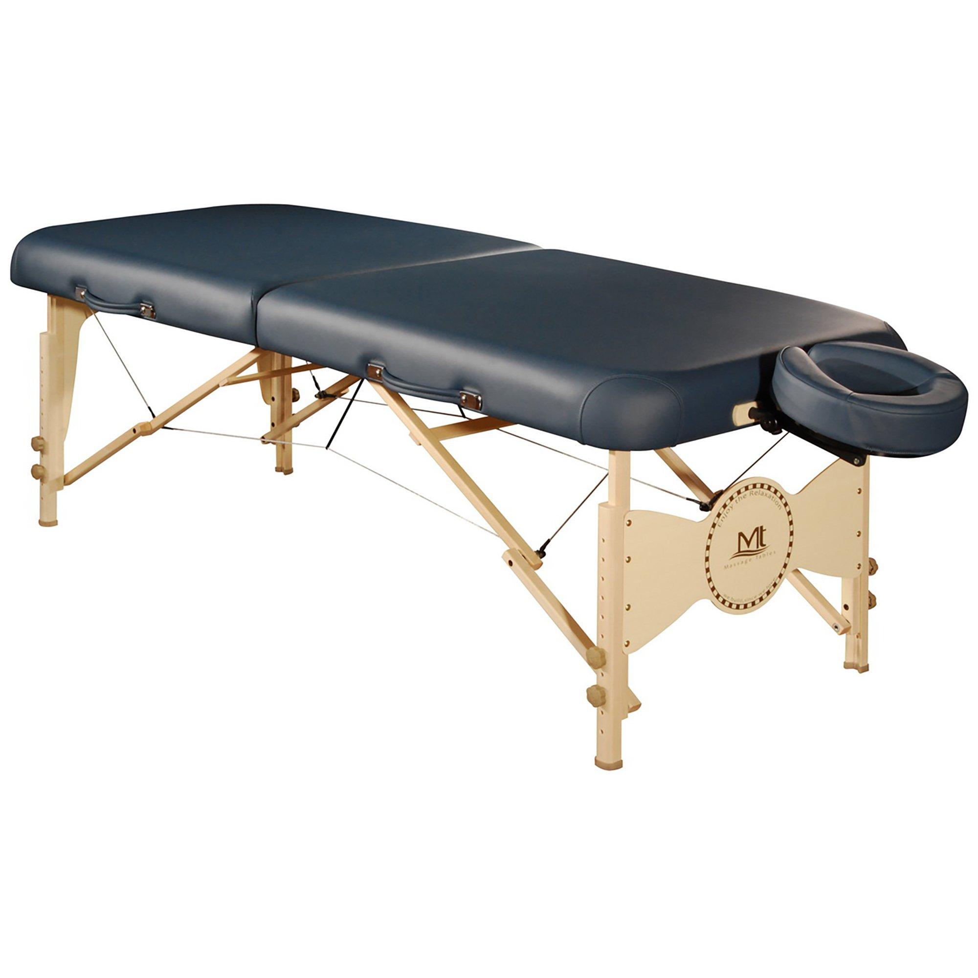 Mt Massage Midas-Plus 30'' Professional Portable Massage Table Package with Reiki Panel(Agate Blue)