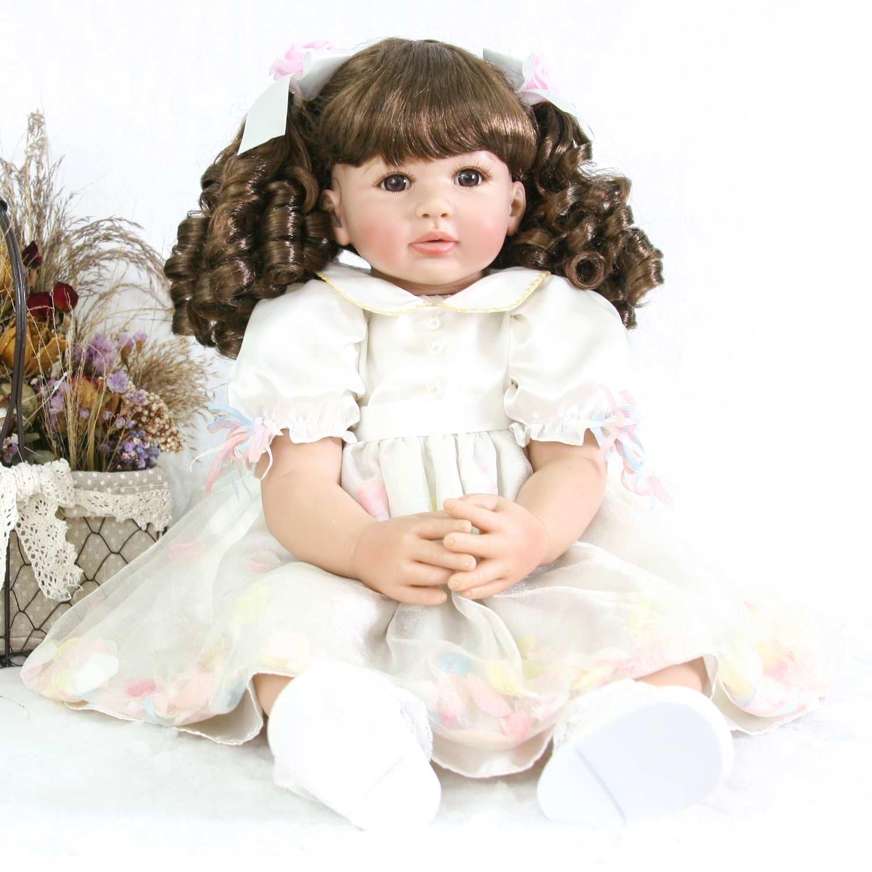 Pursue赤ちゃん美しいReal Life Reborn Toddler人形ガールwithカーリーヘアプリンセスMaia、24インチ/ 60 cm Collectibleベビー人形   B07DK8QXPC