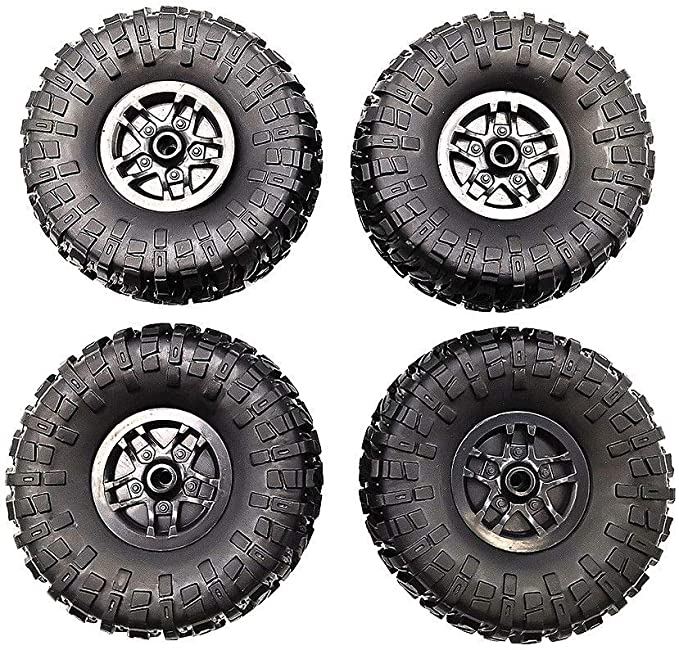 4PCS Rubber Tires with Hubs Wheel Original for 1//12 RC Car MN D90 D91 MN-90K 91K