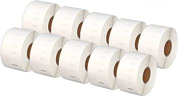 260 Etichette//Rotolo Printing Saver 30x 99012 36 x 89 mm Compatibili Rotoli Etichette adesive per Dymo LabelWriter 310 320 330 4XL 400 450 Turbo//Twin Turbo//Duo /& Seiko SLP etichettatrici