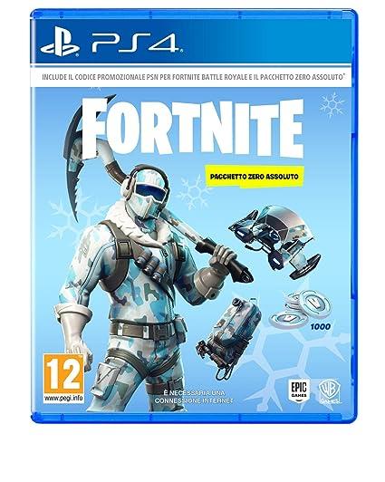 Fortnite Pacchetto Zero Assoluto Playstation 4 Codice Digitale