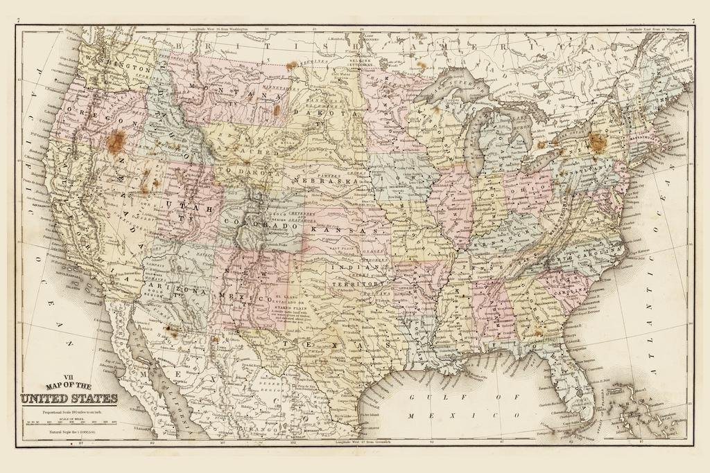 United States of America 1867 Antique Style Map Cool Wall Decor Art on map of north carolina, map of europe, map of western hemisphere, map of china, map of us, map of guam, map of world, map of new york, map of texas, map of ohio, map of the us, map of virginia, map of yellowstone national park, map of bahamas, map of south america, map of florida, map of western states, map of great lakes, map of canada, map of south dakota, map of the world, map of italy, map of western us, map of hawaii, map of earth, map of georgia, map of california, map of pacific northwest, map of east coast, map of africa, map of usa, map of germany, map of countries, map of time zones, map of midwest, map of mexico, map of wyoming, map of caribbean, map of washington,