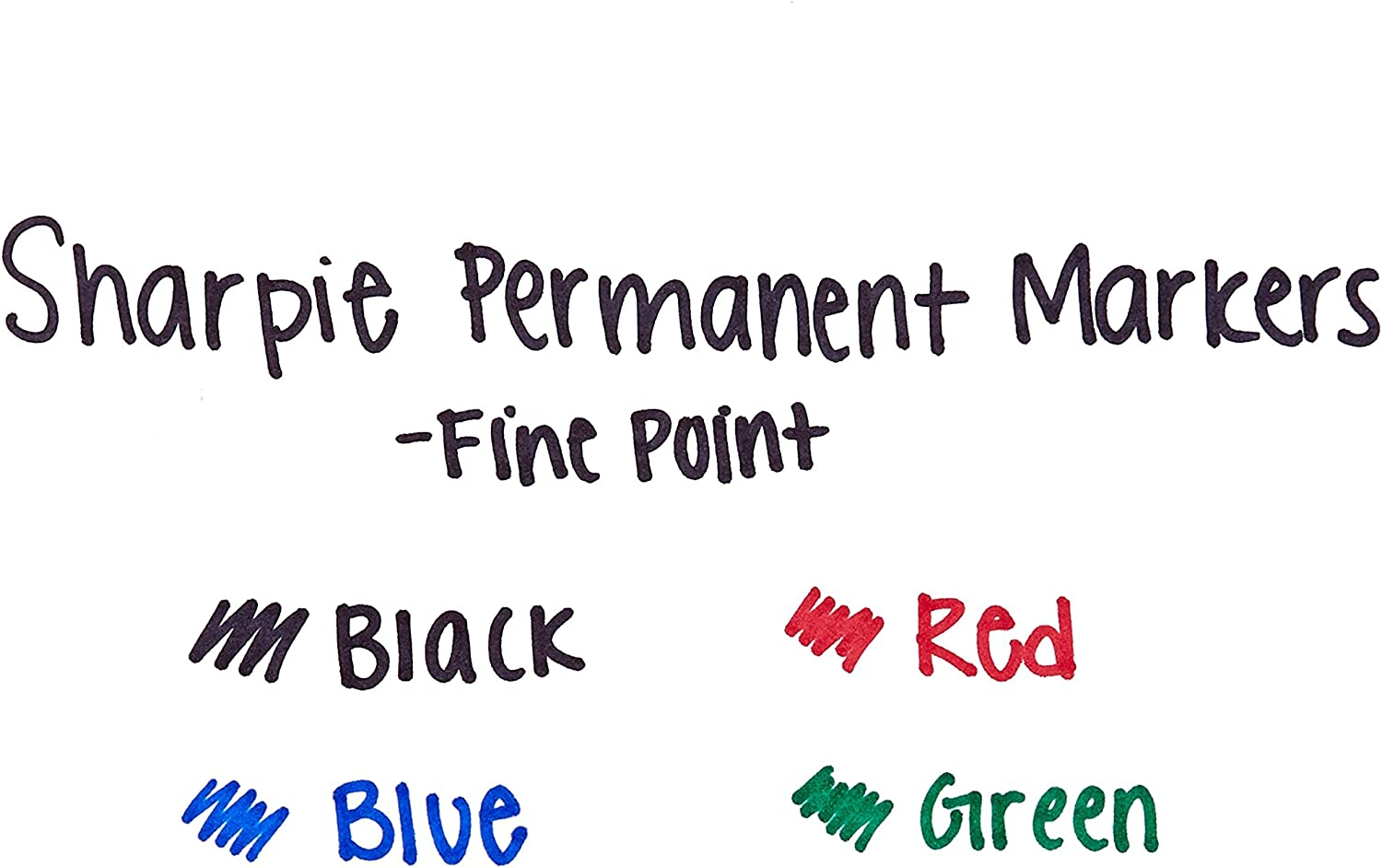 Assorted Colors 1921559 Sharpie Permanent Markers Fine Point 36-Pack