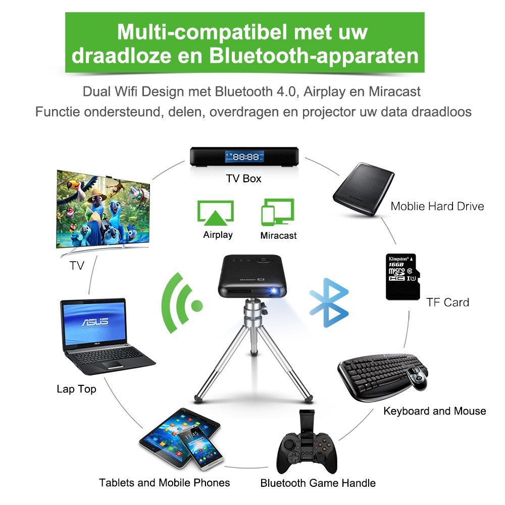 Mini Android Pico Cinema Proyector de aodin Wireless Bluetooth ...