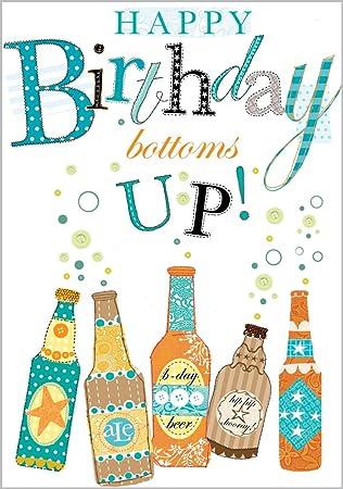 Beer Bottles Happy Birthday Card