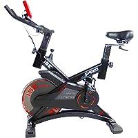 ISE Vélo de Biking Vélo d'appartement ergomètre, Supports pour Bras, cardiofréquencemètre, Silencieux, 120 kg Max SY-7005-1