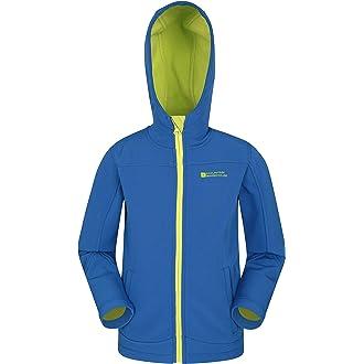 8075feee7 #1 Mountain Warehouse Exodus Kids Softshell Jacket - Breathable Childrens  Jacket, Showerproof Girls Coat, Fleece