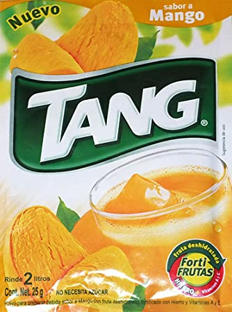3 X Tang Mango Flavor No Sugar Needed Makes 2 Liters of Drink 15g From Mexico