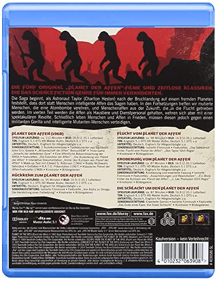 Planet Der Affen Legacy Collection Blu Ray Amazonde