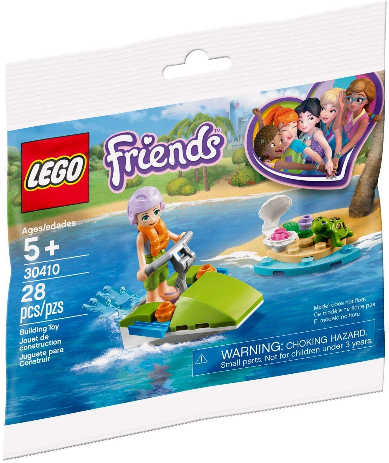 LEGO Friends Mia's Water Fun 30410 Building Kit (28 Pieces)