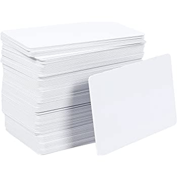 pvc blank cards pack 100 pieces graphic quality white id plastic cards for photo printer - Blank Plastic Cards