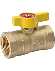 Mueller 110-223C Forged Brass Two-Piece Body Gas Ball Valve, 1/2-Inch
