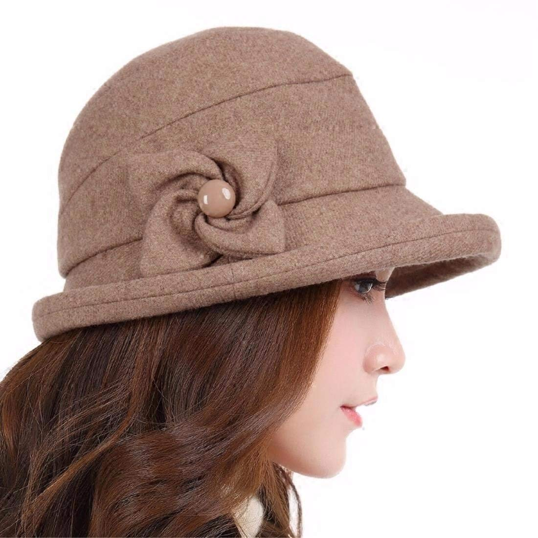 Brown Chuiqingnet Stylish rolled and Fisherman's hat autumn winter basin cap female casual elegant new