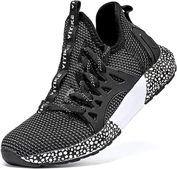 Kid Boys Girls Fashion Sneakers Soft Sole Shoes Running Athletic Jogging Sports