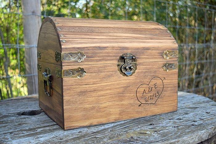 Amazon.com: Rustic Wooden Card Box - Rustic Wedding Decor - Wedding ...