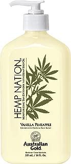 product image for Australian Gold Vanilla Pineapple Hemp Nation Moisturizing Tan Extender Lotion, 18 Ounce | Hemp Seed Oil