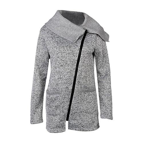 Cuello asimétrico sudadera escudo talla extra OverDose chaqueta de manga larga para mujer