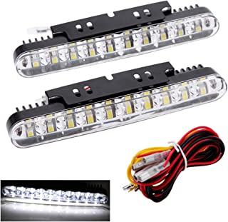 Walmeck 2pcs 30LEDs Car Daytime Running Light DRL Daylight Lamp with Turn Signal Indicators Lights