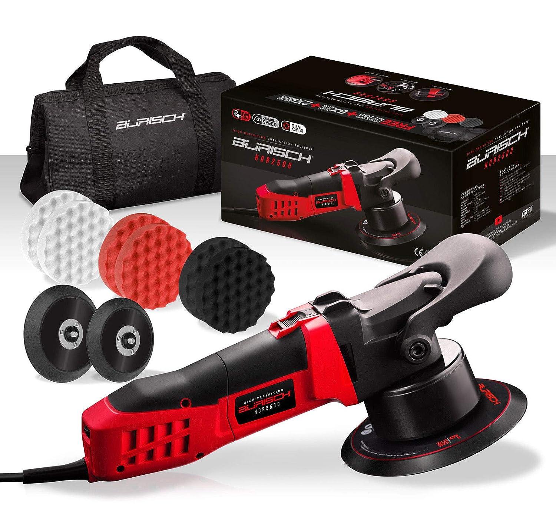 BURISCH HDR2500 Dual Action DA Polisher Sander + Foam Compounding Pads + Kit bag BURISCH®