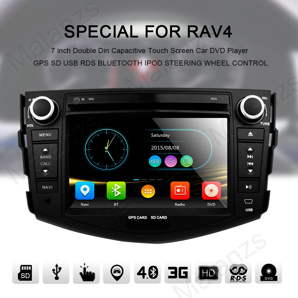Double Din Radio Car Stereo With Navigation For Toyota 2007 Rav4 Remote Control Mirror Wiring Diagram 2006 2012 Bluetooth Head Unit 7 Inch Indash Dvd Touch Screen Gps Sd Usb Steering Wheel Electronics