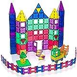 Playmags 150 Piece Set 150pcs Magnet Building Tiles - Clear Magnetic 3D Building Blocks, Creative Imagination, Inspirational,