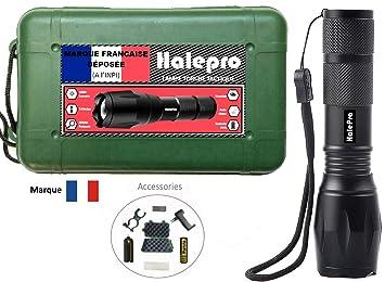 Halepro Marque Francaise Torche Lampe De Poche Led Rechargeable