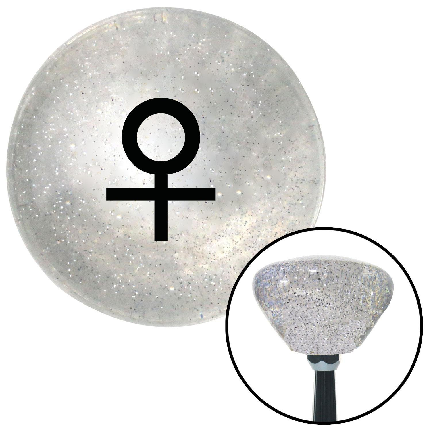 White Jet Formation American Shifter 256733 Orange Flame Metal Flake Shift Knob with M16 x 1.5 Insert
