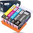 OfficeWorld Compatible Ink Cartridges Replacement for Canon 280 281 280XXL 281XXL, Work with Pixma TS9120 TR8520 TS6120 TS6220 TS8120 TR7520 Printer, 5 Pack (1 PGBK,1 Black,1 Cyan,1 Magenta,1 Yellow)