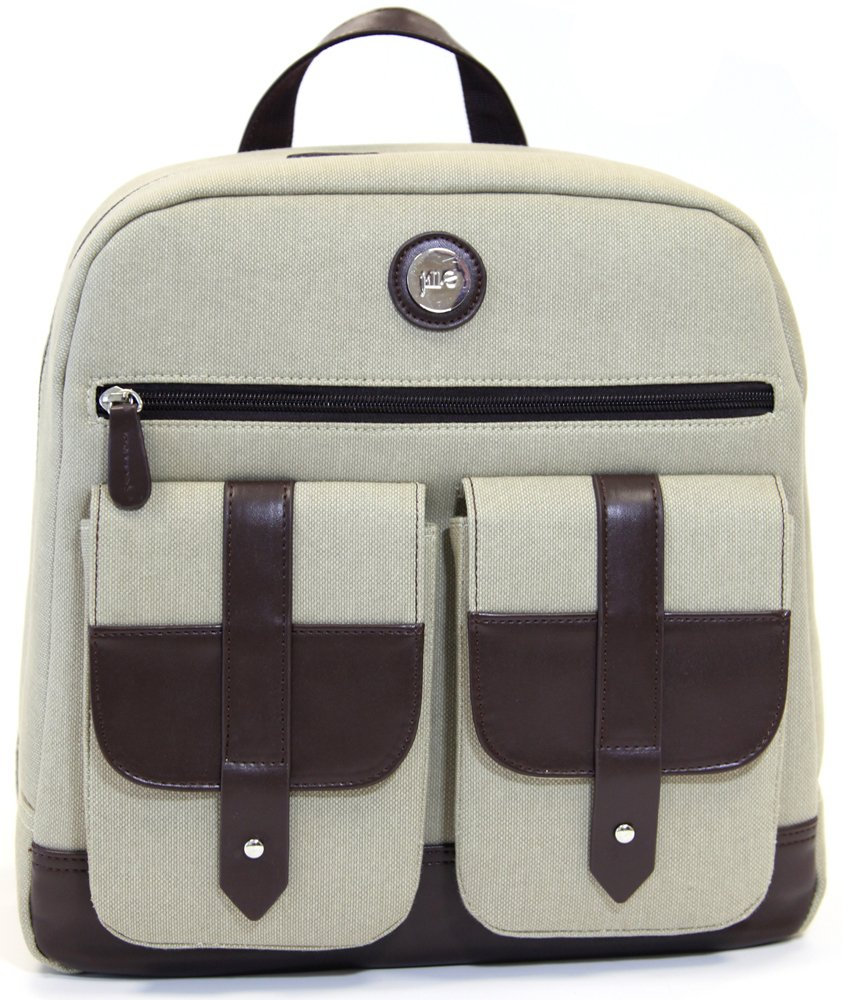 "good Jill-e Designs Backpack with 13"" Padded Laptop Pocket for Cameras, Tan (419330)"