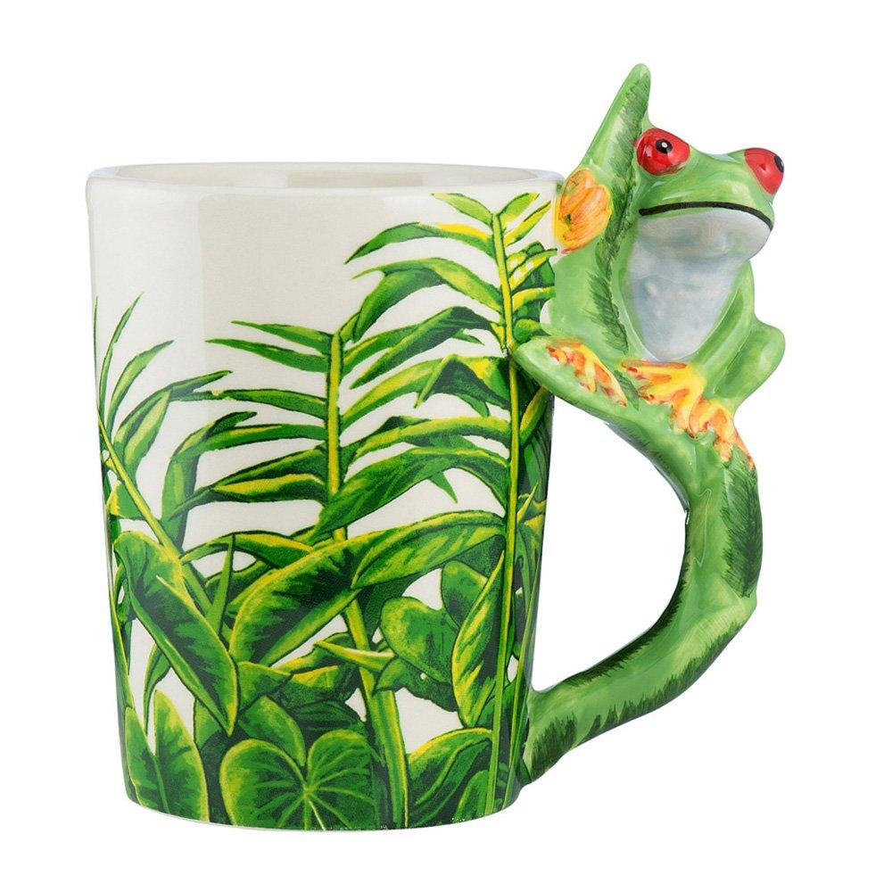 当店在庫してます! ハンドメイド3d動物磁器カップクリエイティブグリーンジャングル野生生物セラミックコーヒーマグカップ フロッグ(Frog) B071FSZXNM フロッグ(Frog) B071FSZXNM, フクオト:2cb1784c --- movellplanejado.com.br