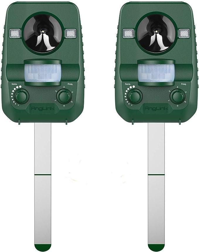 AngLink 2 x, Repelente Ultrasónico para Animales, para Exterior ...