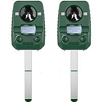 AngLink Répulsif Chat Ultrason Solaire Repulsif Chat Exterieur pour Éloigner Les Animaux Nuisibles de Votre Jardin - 2018 Nouvelle Version