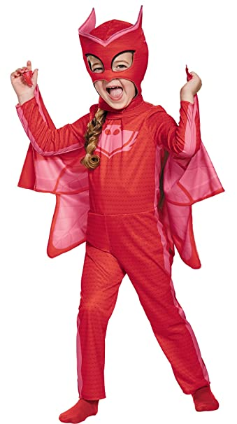 UHC Girls PJ Masks Classic Owlette Theme Outfit Child Halloween Costume, Toddler M (3T