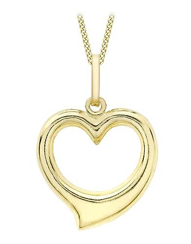Carissima Gold Conjunto de Cadena de Oro de 9K y Colgante para Mujer