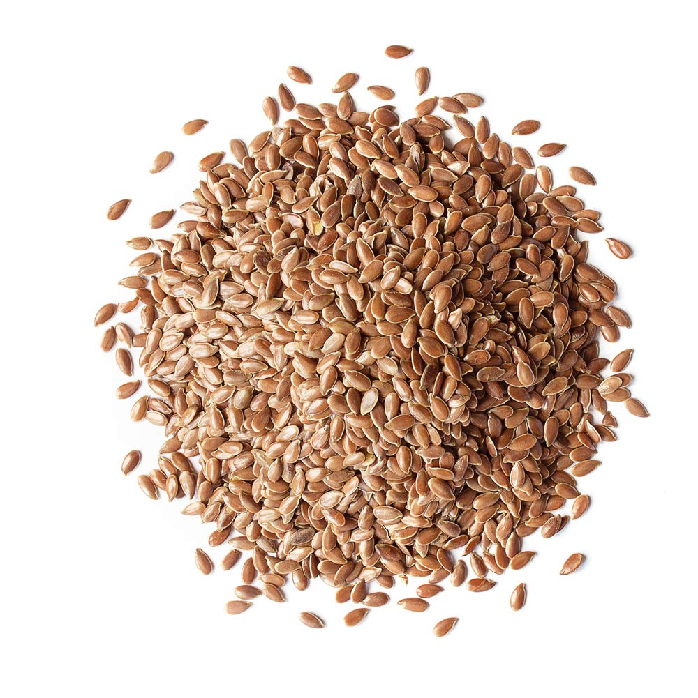 Organic Brown Flax Seeds, 5 Pounds — Whole Flaxseeds, Non-GMO, Kosher, Raw, Dried, Sproutable, Bulk