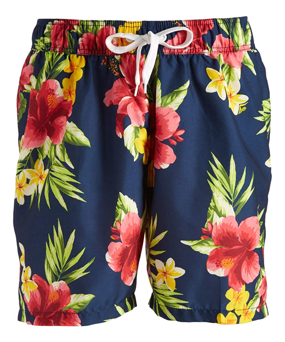 Kanu Surf Mens Standard South Beach Floral Quick Dry Beach Volley Swim Trunk 5465