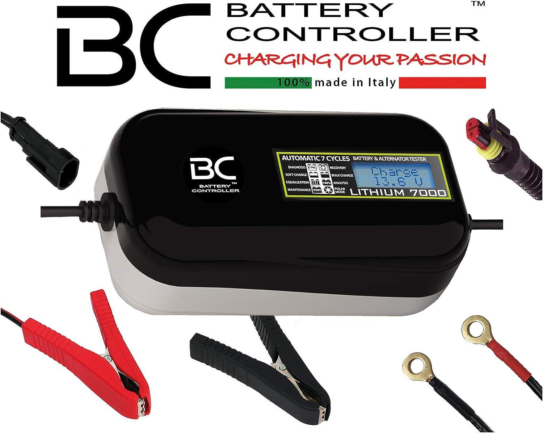 Bc Lithium 7000 12v 7a Automatisches Digitales Batterieladegerät Und Erhaltungsgerät Für Lithium Lifepo4 Batterien Batterie Und Lichtmaschine Testgerät Auto