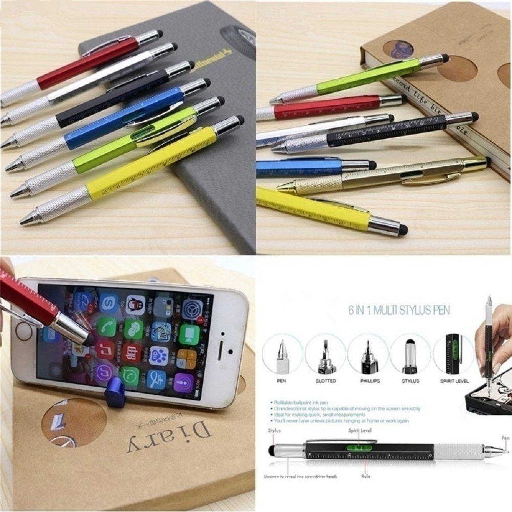 6 in 1 Multi Werkzeug Pen, Nützliche Gadgets Neuheit Geschenke für ...
