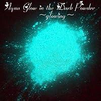 Aqua Glow in Dark Powder Pigments 50 Grams