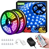 Lepro LED Strip Lights Kit, 50ft Ultra-Long RGB LED Light Strips, Dimmable Color Changing Light Strip with Remote Control, 45