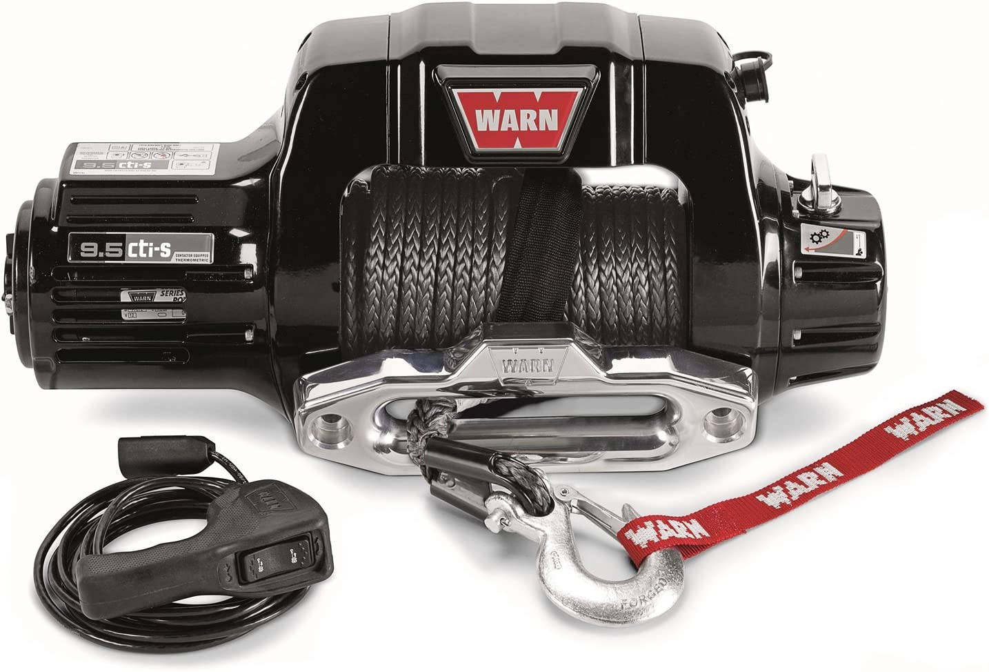 Amazon.com: WARN 97600 9.5cti-s Electric 12V Winch with Synthetic Cable  Rope: 3/8