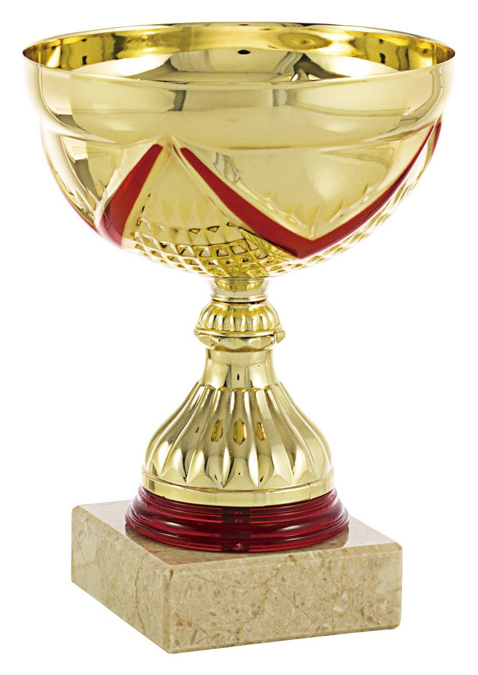 Dorada//Rojo Art-Trophies TP117 Trofeo Deportivo Cinta Oro 9 cm