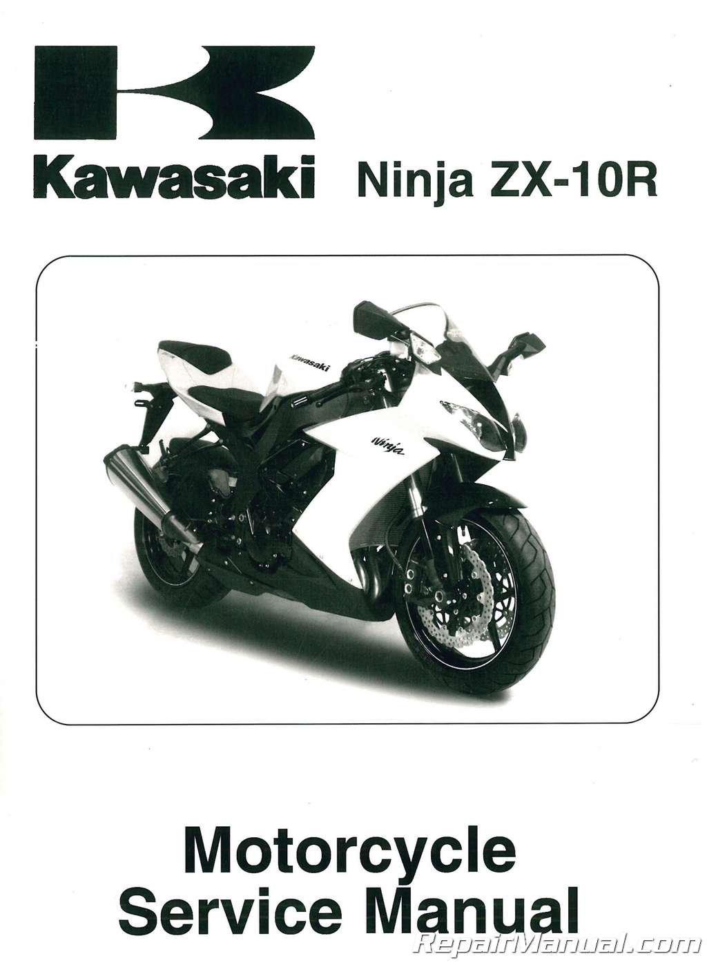 99924-1388-02 2008-2009 Kawasaki Ninja ZX10R ZX1000E Service ...