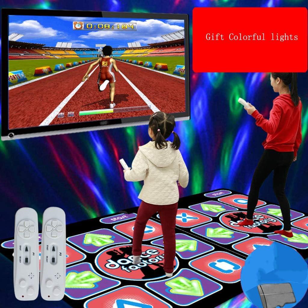 Softness Games-Teppich F/ür Erwachsene Und Kinder,Blau Computer//Tv F/ür Zwei Zwecke Faltbare rutschfeste Somatosensorische Spielmatte Dickere MKIU Drahtlose Hd-tanzmatte