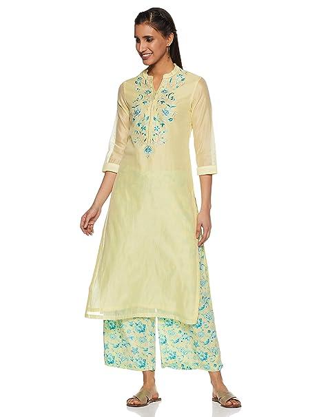 4cb6dc8c753 BIBA Women s Cotton Straight Salwar Suit Set  Amazon.in  Clothing ...