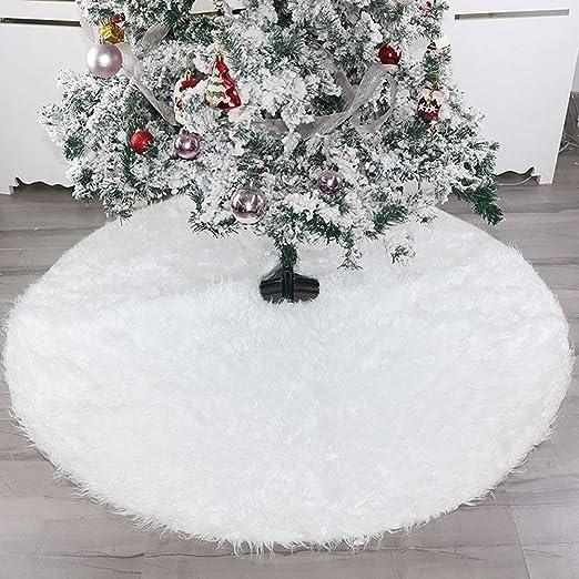 HHUMR Árbol De Navidad Faldas De Piel Falsa Base De Felpa Grande ...