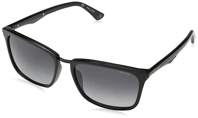 Police Blackbird 10 Gafas de sol, Negro (Shiny Black), 57 ...