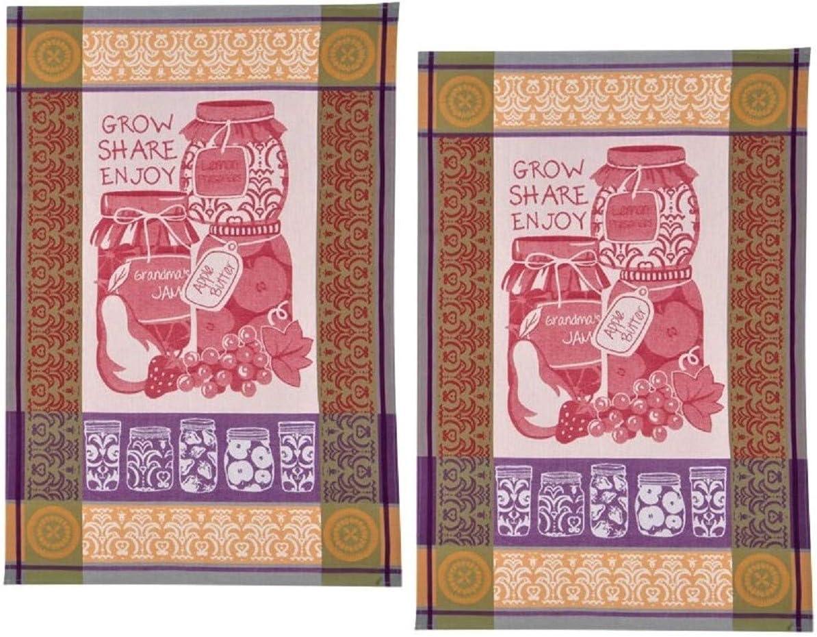 Kay Dee Designs Canning & Mason Jars Jacquard Kitchen Tea Towels, Set of 2 Canning Mason Jars Theme Towels for Kitchen Dishtowels, Canning Season, Canning Decoration, Canning Towels