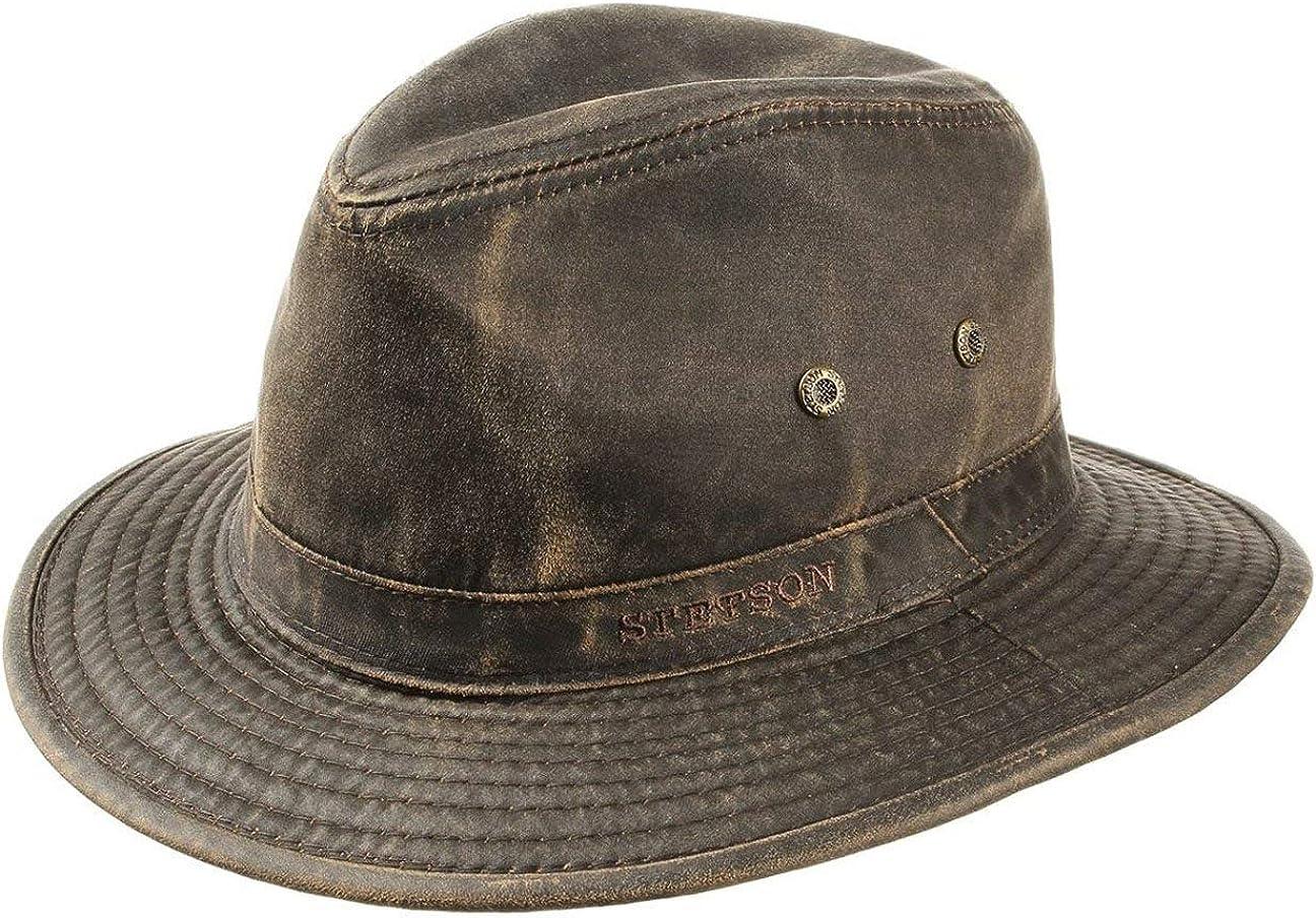 Stetson Sombrero vagabundo Traveller para Hombre - Sombrero Aventurero de algodón con protección UV 40+ - Sombrero de Exteriores Estilo Retro - Verano/Invierno -